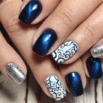 short square manicured nails